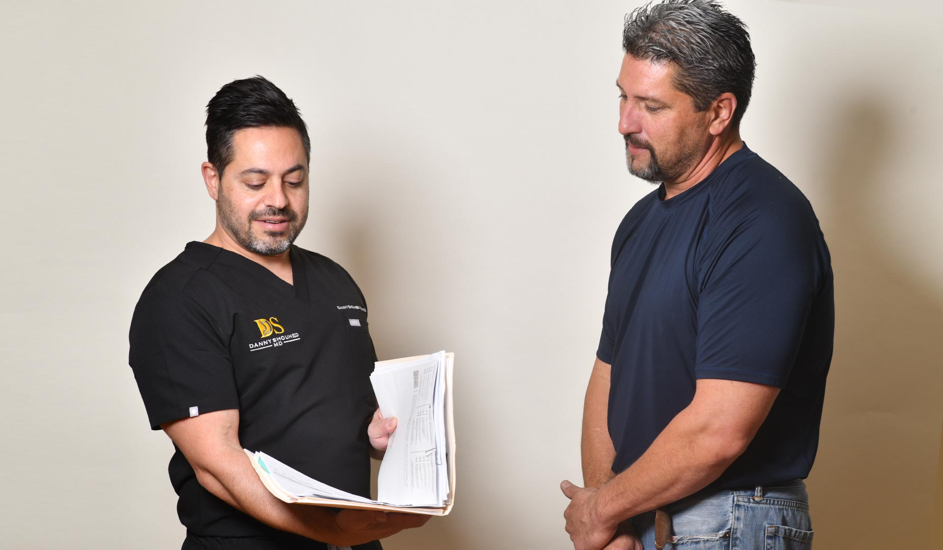 Danny Shouhed MD with his patient.